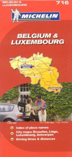 Michelin Map Belgium Luxembourg  716 (Maps/Country (Michelin))