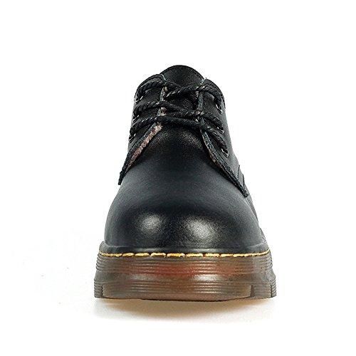 Zapatos de de ocasionales botines forro puntera Botines botas vino Black de mujer cuero para tacón negro invierno Sequin HSXZ redonda verdadero pelusas planas qHCdqS