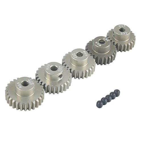 RCRunning M0.6 3.175mm 23T 24T 25T 26T 27T Gear with Screw for 1/10 RC Motor by