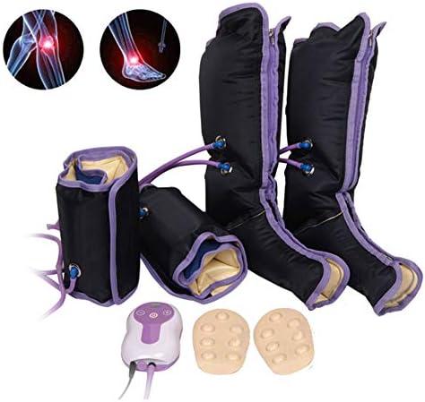 空気圧縮レッグマッサージャー電気循環脚ラップ用ボディ足足首ふくらはぎの痛み疲労バイブレーターを和らげる
