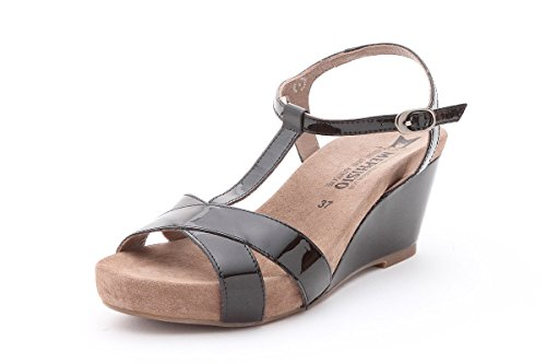 pieds Sandales Femme MEPHISTO Nu BATIDA Black HqwvStpv