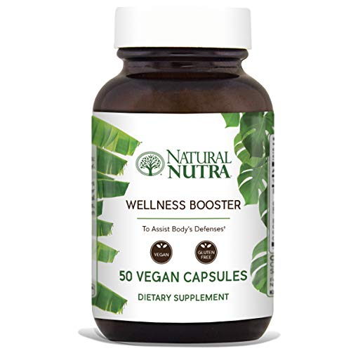 - Natural Nutra Wellness and Immune Booster Herbal Extract: Echinacea, Goldenseal, Ginger, Licorice Root, Cayenne, Reishi and Shiitake Powder, Fennel, Red Clover, Chamomile, Parsley, 50 Vegan Capsules