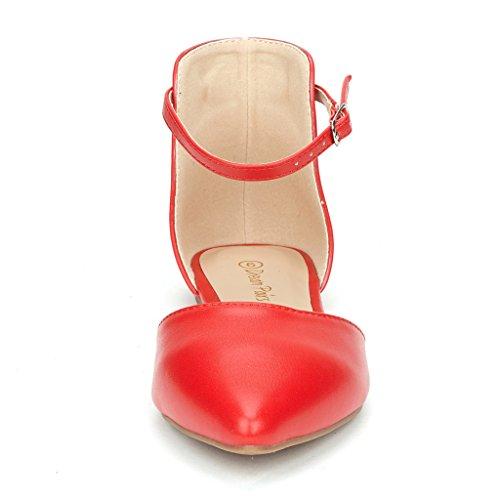 Paires De Rêve Flapointed Dorsale Casual Pointu Plaine Ballet Confort Slip Doux Sur Les Chaussures Chaussures Nouvelle Cheville-rouge-pu