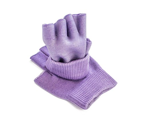 Hocee Moisturizing Gel Gloves Touch Screen Spa Moisture Skin Care Soft Cotton with Gel Repair Heal Eczema Cracked Dry Hand, Gel Lining Infused with Essential Oils and Vitamins, A Pair (Purple) by Hocee (Image #3)