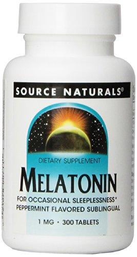Source Naturals Melatonin  1mg, Peppermint, for Occasional S