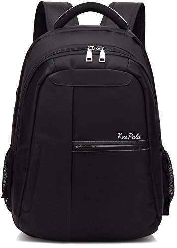 Computer Travel Set (Canvas Laptop Backpacks Travel Bag School Backpack 3 Piece Set Bag (2 PCS-Black))