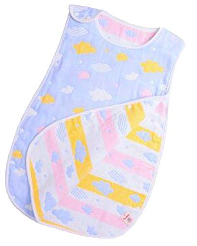Kidsform Unisex Baby Cotton SleepSack Cartoon Wearable Blanket Sleepsack Sleeper Pajamas Blue Clouds 6-12 Months
