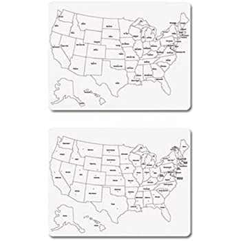 Amazoncom Chenille Kraft White Board Die Cut USA Map Piece - Us map whiteboard