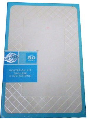 Gartner Studios Ivory Diamond Invitation Kit - 50 ct - Formal Occassion, Wedding