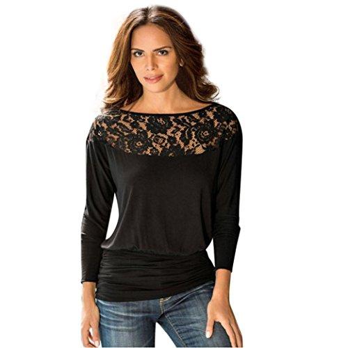 WensLTD Early Autumn Women Long Sleeve Lace T-Shirt Blous...