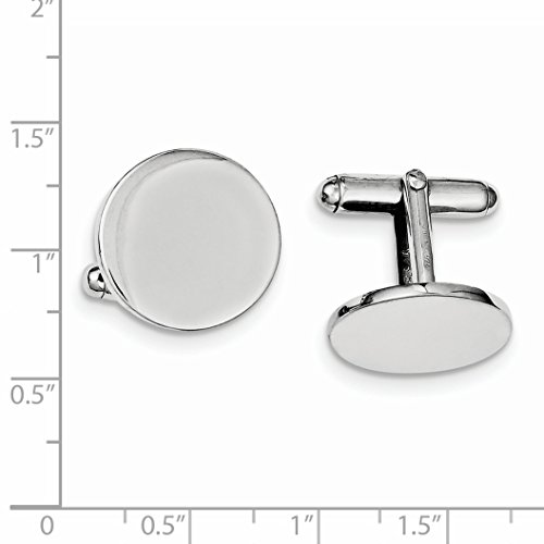 ICE CARATS 925 Sterling Silver Round Cuff Links Mens Cufflinks Man Link Fine Jewelry Dad Mens Gift by ICE CARATS (Image #3)