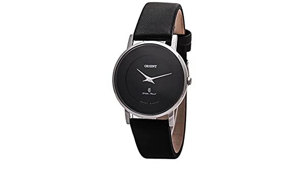 Amazon.com: ORIENT WOMENS 35MM BLACK LEATHER BAND STEEL CASE QUARTZ WATCH FUA07005B0: Orient: Watches
