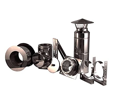 EcoVent USA PROFESSIONAL GRADE - THROUGH THE WALL CHIMNEY KIT 6