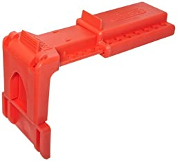 North Safety B-Safe Ball Valve Lockout, Red, 1-1/2\