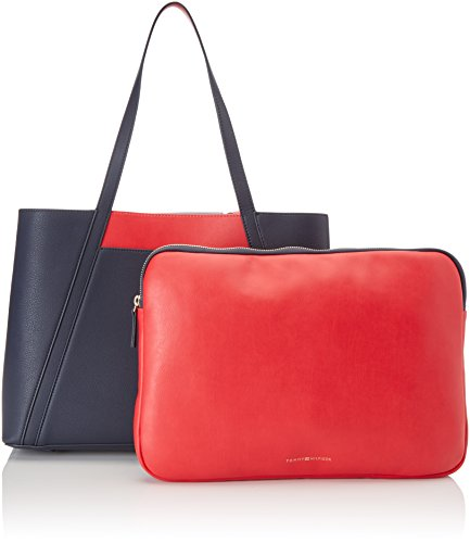 Tommy Hilfiger Tommy Bag Workbag Cb, Borsa a Tracolla Donna, Multicolore (Tommy Navy), 4 x 10.5 x 19 cm (W x H x L)
