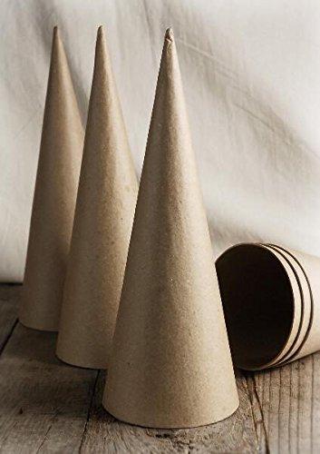 Richland Paper Mache Cones 10.5' Set of 24 Quick Candles