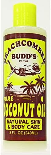 Hawaiian Beachcomber Budd's Pure Scented Coconut Oil 8 Ounce