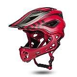 J.N.F. Helmet for Children Skateboard Helmet for Children Breathable Protection Adjustable Primary schoolchild Sports Helmet (Color : Red)