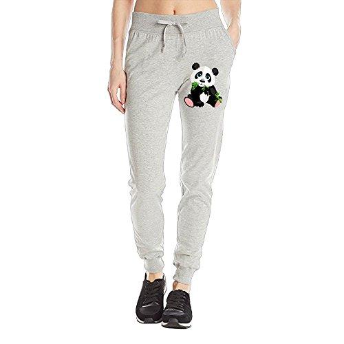 Losport Women's Bamboo Panda Cotton Joggers Pants Slim Fit Bottoms Fleece Pant With Pockets M Ash