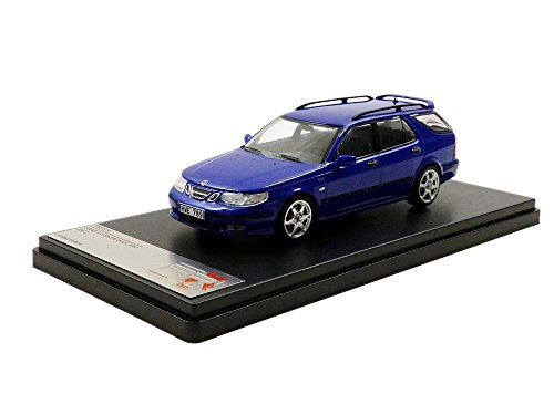 Saab 9-5 sport station wagon Aero, metallic-blue, 2002, Model Car, Ready-made, Premium X 1:43