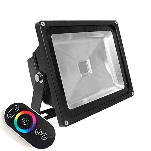 Proyector Led de exterior MICROLED, 30W, RGB-RF, RGB: Amazon.es ...