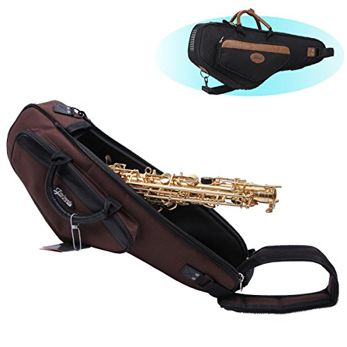 Alto Saxophone Bag & Case 1200D Water-resistant Oxford Cloth bE Saxes handbag and Backpack (Coffee)