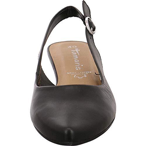 Scarpe Black Donna scarpe Leather Tamaris Caviglia Caviglia sandali 1 Tacco pelle Con 22 1 slingback Alla comfort Col Tacco con 29400 Cinturino gqIRXw1I
