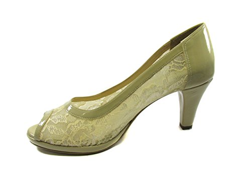 Decollete' In Italy Pizzo Beige Mainapps Made Open Toe SwHSZ