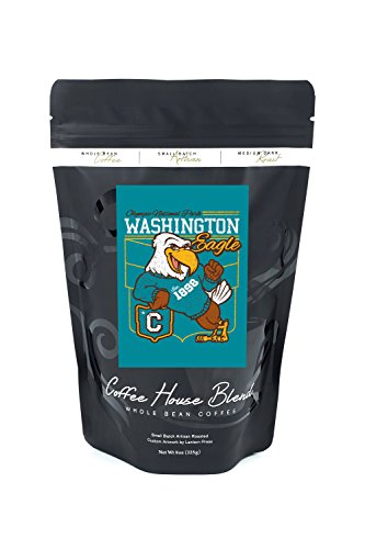 Olympic Country-wide Park, Washington - Eagle Mascot - Collegiate Letter Style - Vintage Athletic (8oz Whole Bean Small Batch Artisan Coffee - Undaunted & Strong Medium Dark Roast w/ Artwork)