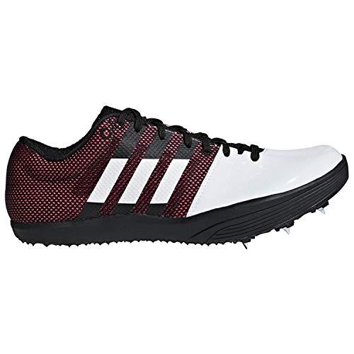 adidas Adizero Lj White/Red/Black Track Shoes 11