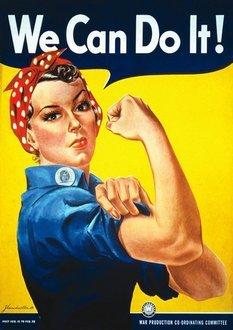 We Can Do It WW2 Propaganda War A4 poster