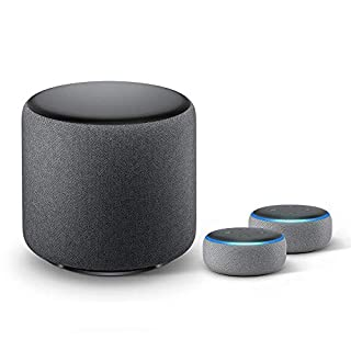 Stereo Echo Dot + Echo Sub Bundle (Heather Gray)