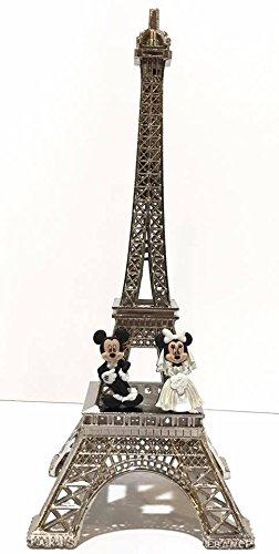 Eiffel Tower Paris Cake Topper Centerpiece Mickey and Minnie Wedding -