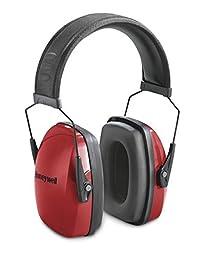 Honeywell Low Profile NRR 25 Earmuff, Red