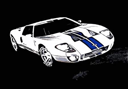 Ford Gtx Canvas Art Print Framed And Ready To Hang Great Low