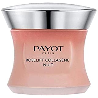 Payot Roselift Collagene Nuit - Resculpting Skincream - Edensifying and Lifting Action - Collagen-boosting with a Patented Active Ingredient Derived from Damask Rose.