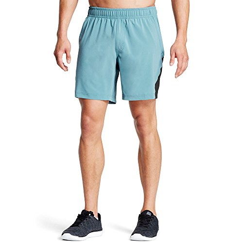 "Mission Men's VaporActive Fusion 7"" Athletic Shorts, Aegean Blue/Moonless Night, X-Large"
