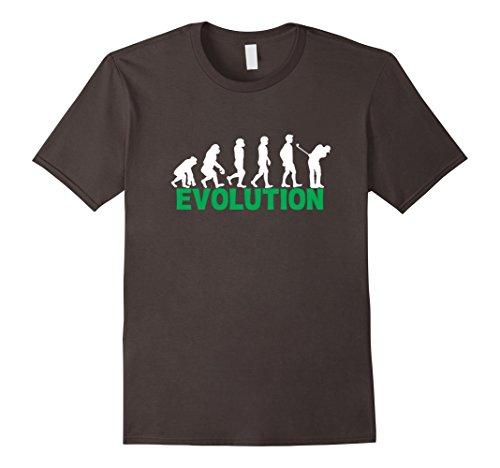Mens Evolution Of Golf Funny Golfing Golfer Gift T-Shirt XL Asphalt