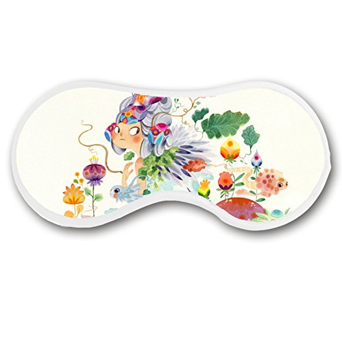 - JessPad Cotton Sleep Mask Flower Fairy Pattern Eye Mask