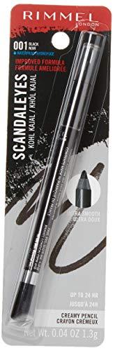 Rimmel Scandaleyes Waterproof Kohl Kajal Liner, Black, 0.04 Fluid Ounce