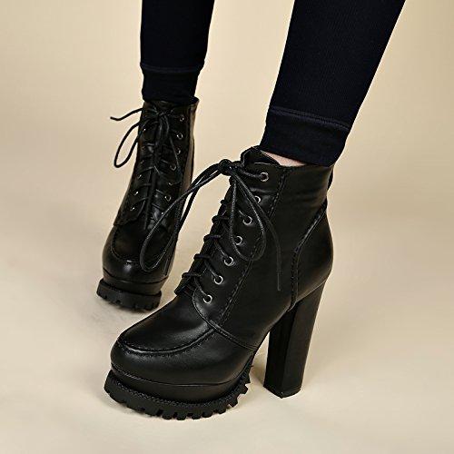 Versione Alto Spessa Impermeabile Degli black Unico Stivali Stivali Stivali