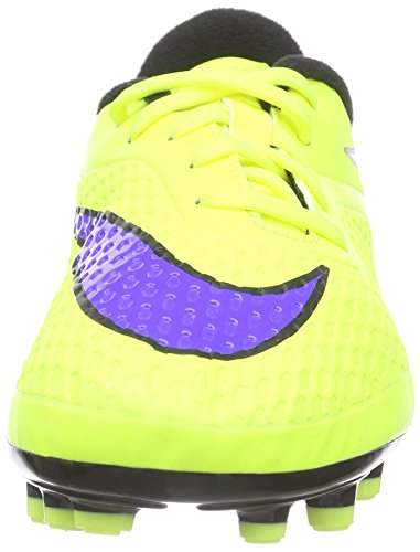 Nike Junior Hypervenom Phelon Kids Tacchetti Da Calcio A Tinta Unita Volt, Nero, Viola Persiano