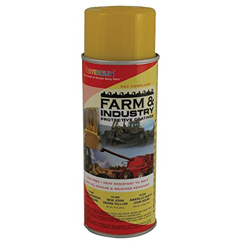 Yellow Spray Paint, Farm Equipmemt and Machinery, 12 Oz (Paint Tractor Case)