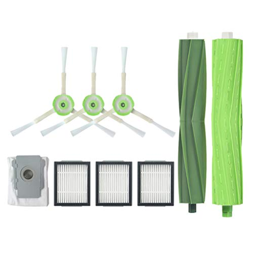 TANGON Replacement Parts Compatible with IRobot Roomba i7 i7+/i7 Plus E5 E6 E7 1 Roller Brushs &3 Side Brushes &3Hepa Filters& Dust Bags