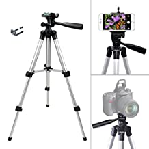 KingMas® Extendable Aluminium Camera Tripod Stand with Universal Smartphones Holder for iPhone 6 5 Samsung Galaxy Note Canon Nikon Sony DSLR DV