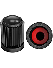 SAMIKIVA Black (30 Pack) Tire Stem Valve Caps, with O Rubber Ring, Universal Stem Covers for Cars, SUVs, Bike and Bicycle, Trucks, Motorcycles, Airtight Seal Heavy Duty