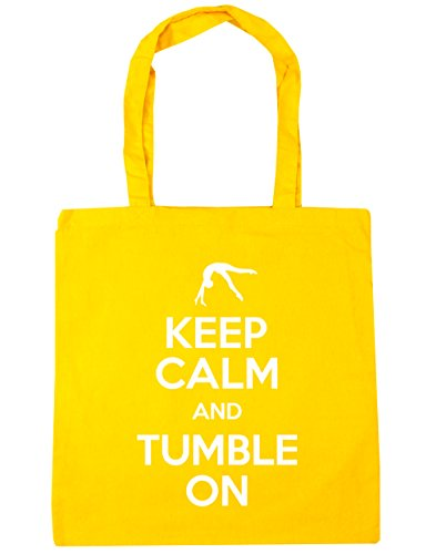 Gym On and Tote Calm x38cm litres Tumble 42cm Bag Beach Shopping Keep HippoWarehouse Yellow 10 Gymnastics wFCp88
