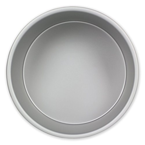 PME RND062 Round Seamless Professional Aluminum Baking Pan, 6'' x 2'', Silver by PME