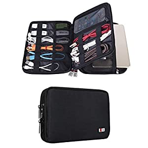 BUBM Double Layer Electronic Accessories Organizer, Travel Gadget Bag Cables, USB Flash Drive, Plug More, Perfect Size…