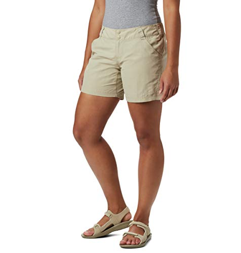 Columbia Women's Coral Point II Short, UV Sun Protection, Moisture Wicking Fabric, Fossil, Medium x 6
